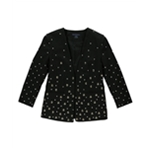 French Connection Womens Studded Open Front Blazer Jacket