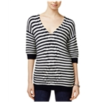 Tommy Hilfiger Womens Striped Cable Pullover Sweater