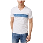 I-N-C Mens Denim Trim Embellished T-Shirt