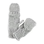Aeropostale Womens Convertible Knit Mitten Gloves