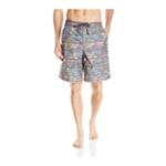 Speedo Mens Tropical Striped Swim Bottom Board Shorts