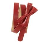 Aeropostale Womens Thin Leatherette Bowtie Skinny Belt