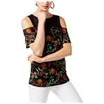 I-N-C Womens Embroidered Knit Blouse
