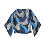 Alfani Womens Angel-Sleeve Knit Blouse