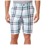 Tommy Hilfiger Mens Easton Plaid Casual Walking Shorts