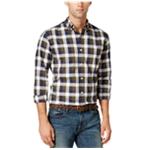 Tommy Hilfiger Mens Plaid Button Up Shirt