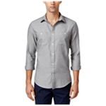 Tommy Hilfiger Mens Herringbone Button Up Shirt