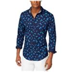 Tommy Hilfiger Mens Pineapple Critter Button Up Shirt
