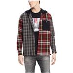 Tommy Hilfiger Mens Pattern Blocked Button Up Shirt