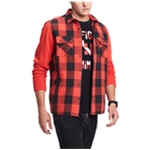 Tommy Hilfiger Mens Plaid Long Sleeves Jacket