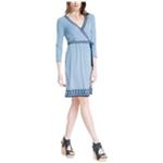 Max Studio London Womens Faux-Wrap A-line Dress