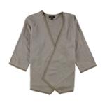 Alfani Womens Asymmetrical Cardigan Sweater
