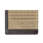Calvin Klein Mens Canvas Coin Card Case Wallet