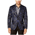 I-N-C Mens Faux Suede Two Button Blazer Jacket