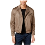 I-N-C Mens Faux Suede Motorcycle Jacket