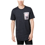 I-N-C Mens Floral Pocket Basic T-Shirt