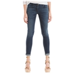 Max Studio London Womens Whiskered Skinny Fit Jeans