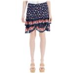 Max Studio London Womens Floral Flared Skirt