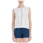 Max Studio London Womens Textured Knit Blouse