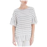 Max Studio London Womens Striped Oversized Knit Blouse