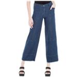 Max Studio London Womens Patchwork Wide Leg Jeans