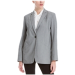 Max Studio London Womens Houndstooth One Button Blazer Jacket