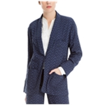 Max Studio London Womens Jacquard One Button Blazer Jacket