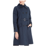 Max Studio London Womens Front-Belted Trench Coat