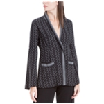 Max Studio London Womens Printed One Button Blazer Jacket