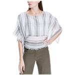 Max Studio London Womens Frayed Knit Blouse