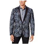 I-N-C Mens Textured One Button Blazer Jacket