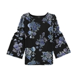Alfani Womens Floral Knit Blouse