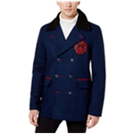I-N-C Mens Fleece-Lined Collar Pea Coat