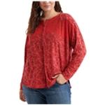 Lucky Brand Womens Western Henley Shirt