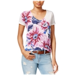 Lucky Brand Womens Floral Graphic T-Shirt