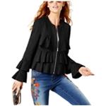 I-N-C Womens Ruffled Jacket