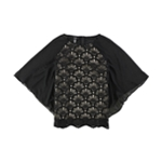 Alfani Womens Lace Front Knit Blouse