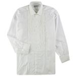 Turnbull & Asser Mens Formal Pleated Button Up Dress Shirt