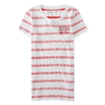 Aeropostale Womens Striped Ath. Dept Embellished T-Shirt