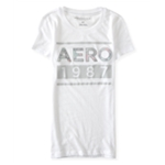 Aeropostale Womens Floral Filled Logo Graphic T-Shirt