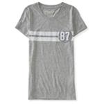 Aeropostale Womens Stripe 87 Embellished T-Shirt