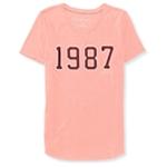 Aeropostale Womens 1987 Embellished T-Shirt