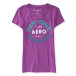Aeropostale Womens Athletics Logo Embellished T-Shirt