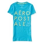Aeropostale Womens Appliqu? Stack Graphic T-Shirt