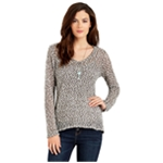 Aeropostale Womens Sheer Textured Pullover Sweater