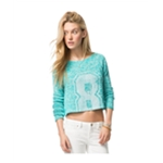 Aeropostale Womens Knit Cropped Pullover Sweater