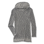 Aeropostale Womens Marled Knit Hooded Sweater