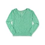 Aeropostale Womens V Neck Loose Fit Basic T-Shirt