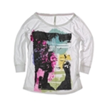 Aeropostale Womens 3/4 Sleeve Dream Images Dolman Crew Graphic T-Shirt
