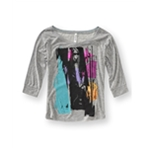 Aeropostale Womens Woman Guitar Graphic T-Shirt